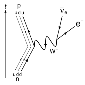 Feynman diagram beta decay