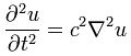 Wave equation for u