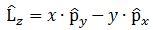 angular momentum operator