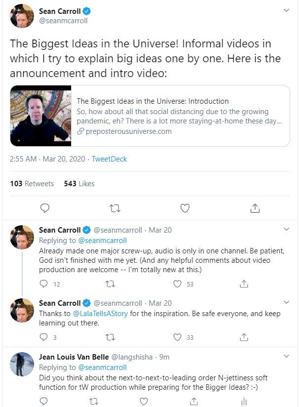 Sean Caroll next tweet